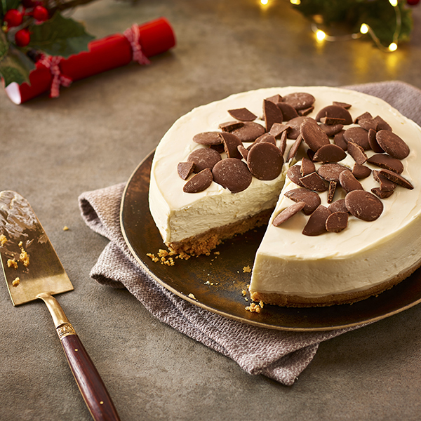 Philadelphia cheesecake with Cadbury Dairy Milk Giant Buttons