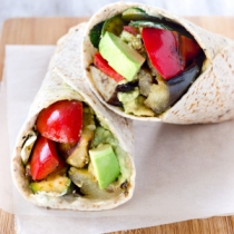 Roasted Vegetable & Goat's Cheese Wraps