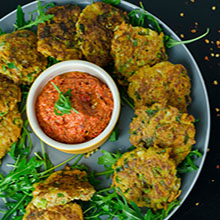 Halloumi Courgette Herb Cakes