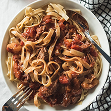 Beef Stew Ragu with Tagliatelle