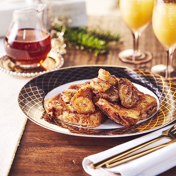 Banana, cinnamon and maple French toast